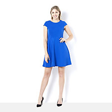 Ronni Nicole Scuba Crepe Fit Flare Dress