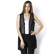 Mr Max Crochet Knit Sleeveless Longline Duster