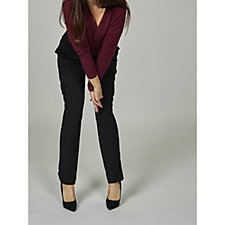 The Lisa Rinna Collection Knit Crepe Cargo Trousers