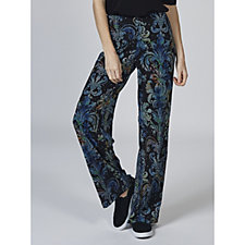Attitudes by Renee Printed Wide Leg Jersey Trouser