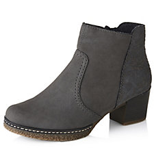 Rieker Ankle Boot with Pattern Detail