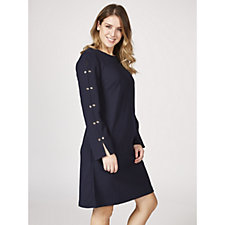 Ronni Nicole 3/4 Sleeve Scuba Crepe Dress