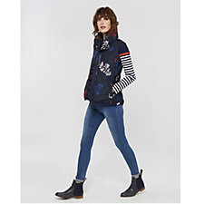 Joules Larkhill Printed Collared Padded Gilet