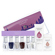 Leighton Denny 9 Piece Around the World Nailcare Collection & Bag