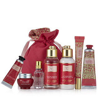 L 39 occitane 7 piece weekend away in the rose jardin secret for L occitane jardin secret