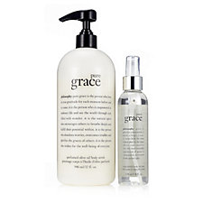 Philosophy 2 Piece Olive Oil Scrub & Satin Finish Body Oil Spray
