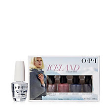OPI 4 Piece Iceland Mini Pack & Brilliant Top Coat