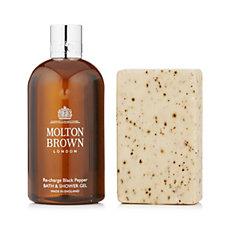 Molton Brown Men's Black Peppercorn Body Wash & Scrub Bar