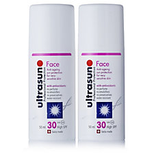Ultrasun Sun Protection Face SPF30 50ml Duo