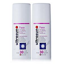 Ultrasun Sun Cream Face SPF30 Duo