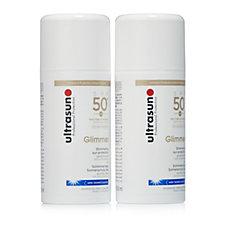 Ultrasun Sun Protection Glimmer SPF50+ 100ml Duo