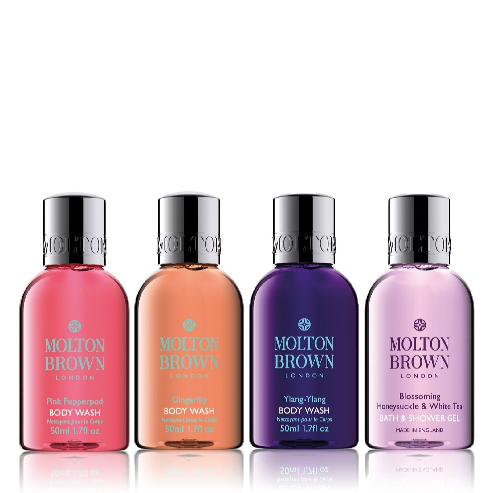 molton brown 4 piece body wash travel collection qvc uk
