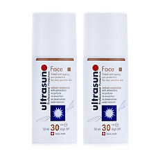 Ultrasun Sun Cream Tinted Face SPF 30 50ml Duo
