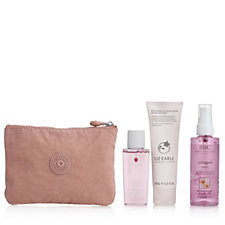 Breast Cancer Care 3 Piece Beauty Collection & Kipling Cosmetic Pouch