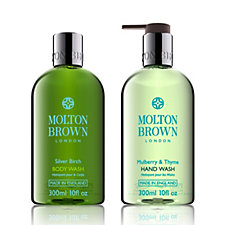 Molton Brown Mulberry & Thyme Silver Birch 2 Piece Hand & Body Collection