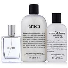 Philosophy 3 Piece Amen Men's Bath & Body Collection