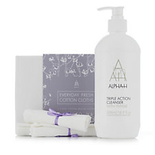 Alpha-H Supersize Triple Action Cleanser 500ml & with Wash Cloths