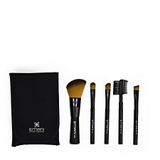 234525 - Emani Vegan Cosmetics 5 Piece Travel Brush Collection & Pouch