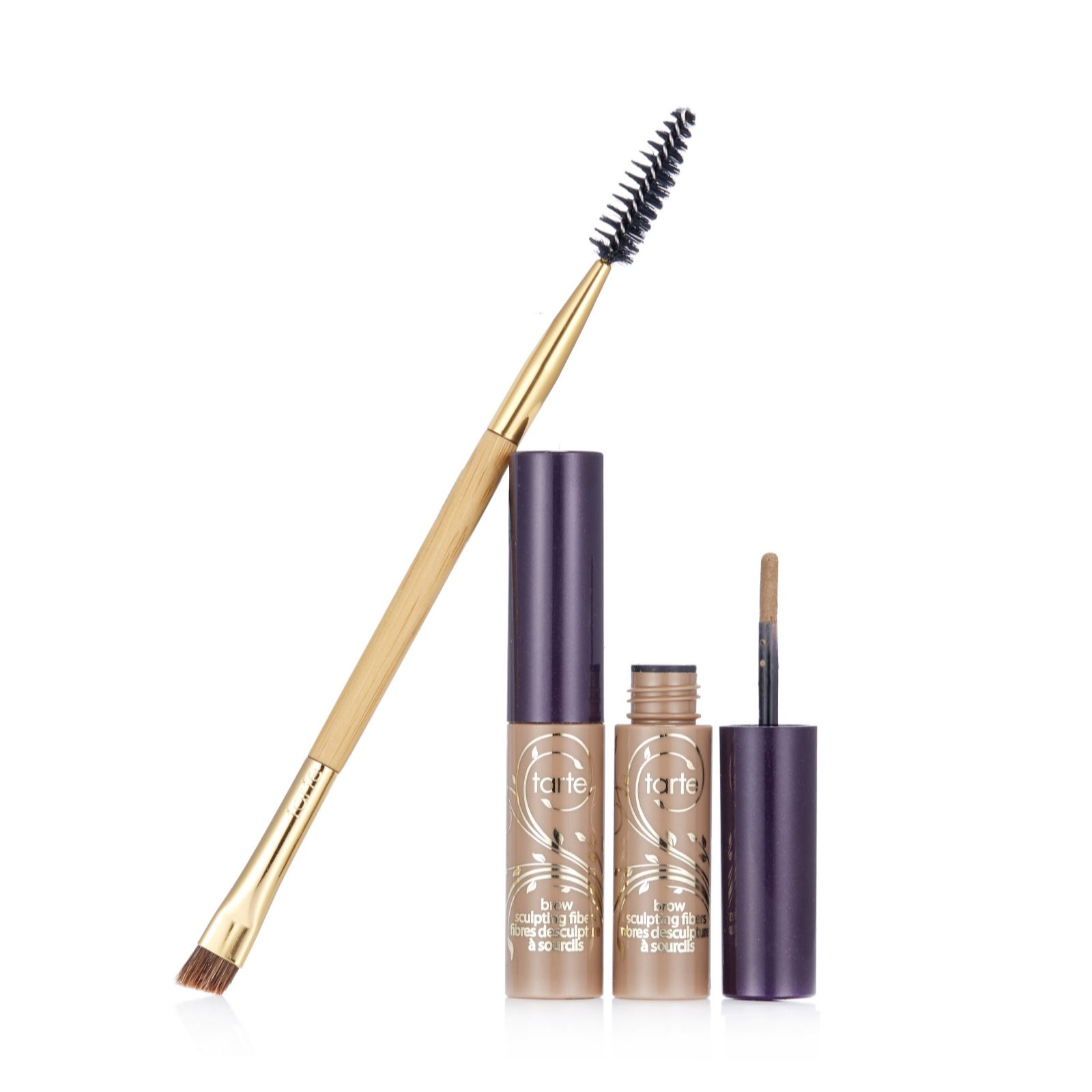 Tarte Brow Sculpting Fibres Duo with Double Ended Brow Brush ...