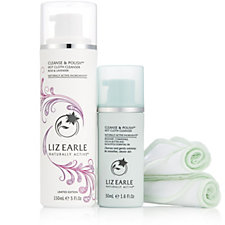 Liz Earle Day to Night Cleanse & Polish Rose & Lavendar & Regular Duo