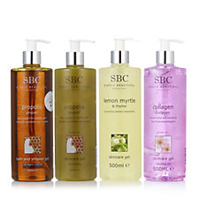 SBC 4 Piece Shower & Gel Collection
