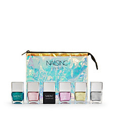 Nails Inc 6 Piece In A Galaxy Day Dream Collection & Bag