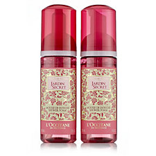 L'Occitane Rose Jardin Secret Garden Shower Foam Duo