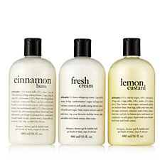 Philosophy Sweet Treats Shampoo, Shower Gel & Bubble Bath Trio 480ml