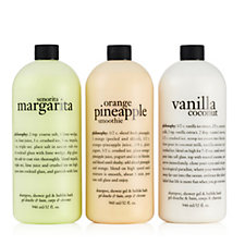 Philosophy 3 Piece Summer Sips Shampoo, Bath & Shower Gel Collection