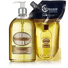 L'Occitane Almond Shower Oil & Eco Refill 500ml