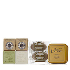 L'Occitane 6 Piece Almond & Shea Soap Collection with Tin