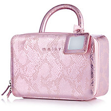 Mally Pink Snakeskin Traincase