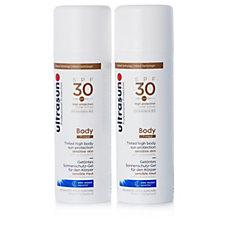 215634 - Ultrasun Tinted Body Sun Cream SPF30 150ml Duo