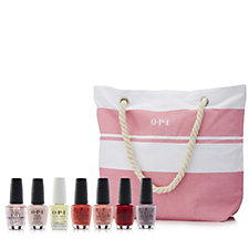 232635 - OPI 7 Piece Summer Nail Collection with Beach Bag