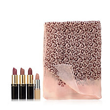217238 - Gale Hayman 4 Piece Endless Summer Lip Collection with Scarf