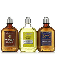 L'Occitane 3 Piece Men's Shower Gel Collection