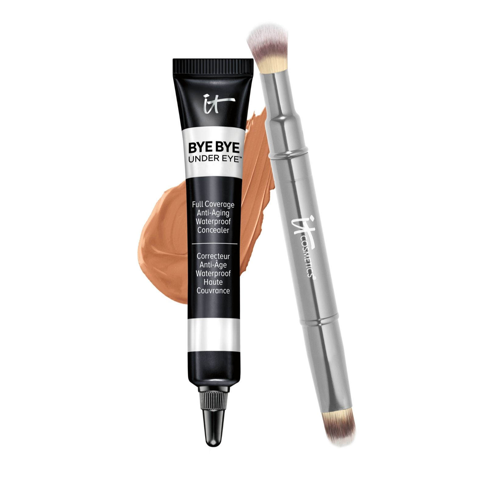IT Cosmetics Bye Bye Under Eye Concealer & Brush - Page 1 - QVC UK