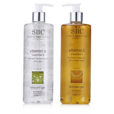 SBC 2 Piece Vitamin Skincare Gel Collection 500ml
