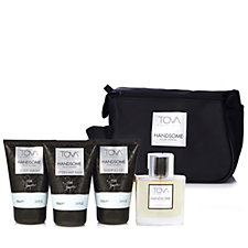 Tova 4 Piece Handsome Men's Travel Collection with Bag