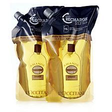 L'Occitane Supersize Almond Shower Oil  Eco Refill Duo