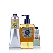 L'Occitane 3 Piece Almond Liquid Soap & Hand Cream Collection
