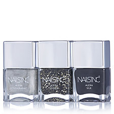 229348 - Nails Inc 3 Piece Alexa Chung Black & Gold