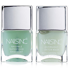 Nails Inc 2 Piece Nailkale Base Coat & Overnight Detox Mask