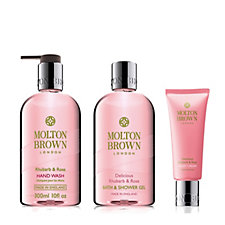 Molton Brown Rhubarb & Rose 3 Piece Hand & Body Collection