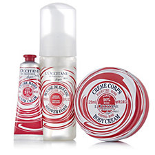 L'Occitane 3 Piece Whipped Shea Rose Collection