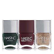 Nails Inc 3 Piece Holly Berry Collection