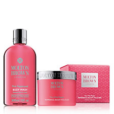 Molton Brown Fiery Pink Pepper 2 Piece Body Wash & Exfoliating Collection
