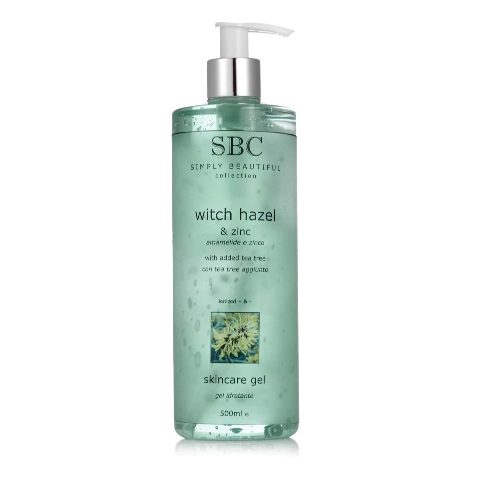 SBC Witch Hazel & Zinc Skincare Gel 500ml - Page 1 - QVC UK