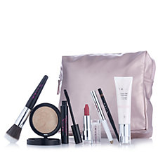 Mally 7 Piece Prime, Prep & Glow Make-Up Collection & Bag