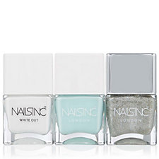 Nails Inc 3 Piece White Out Collection